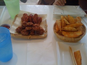 Kyochon Chicken's Wings and Fries