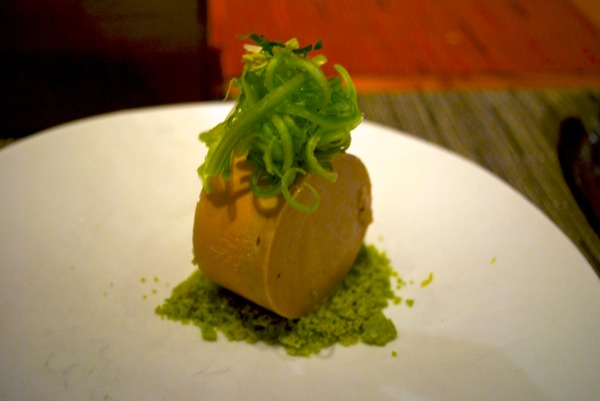 Foie gras, passionfruit, chinese celery at WD~50.jpg