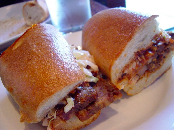 Momofuku barbeque sandwich