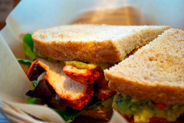 Roast chicken, avocado, jicama sandwich at Flour Bakery and Cafe.jpg
