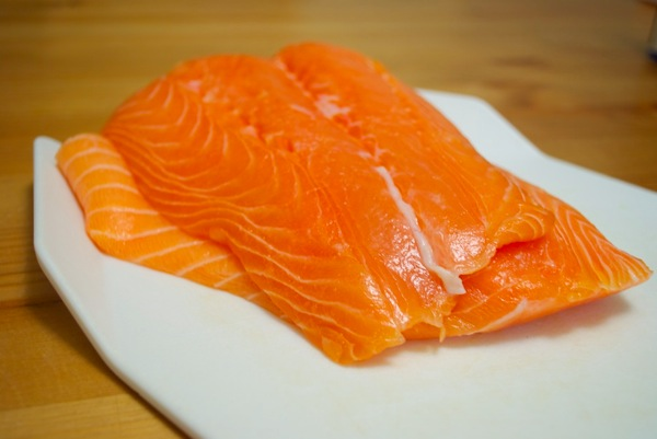 Fresh Atlantic farmed salmon