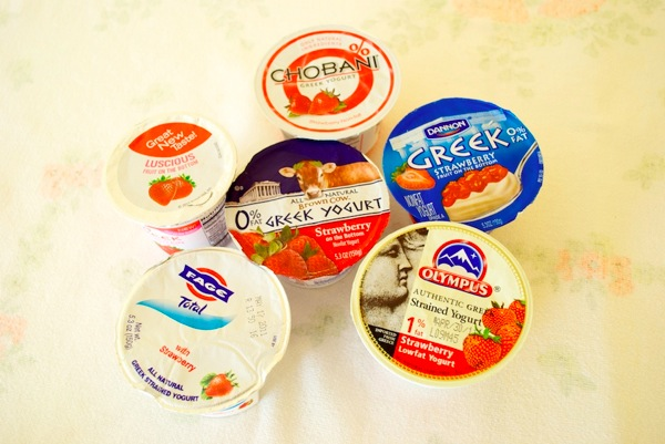 Fage Chobani Dannon Olympus Brown Cow Yoplait Greek yogurt