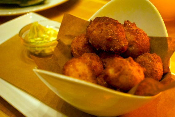 Hush puppies at Food Wine and Co