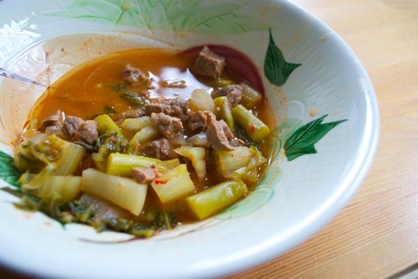 Top round asparagus romaine potato stew