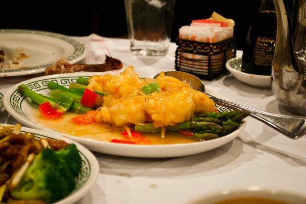Sweet ginger shrimp