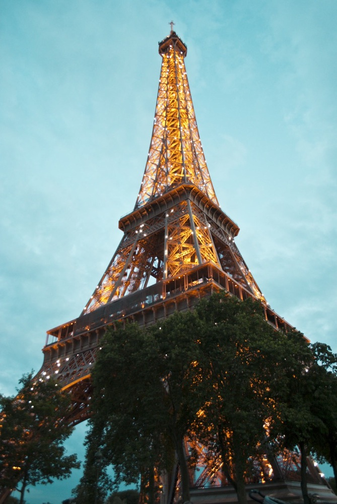 Eiffel Tower on Bastille Day