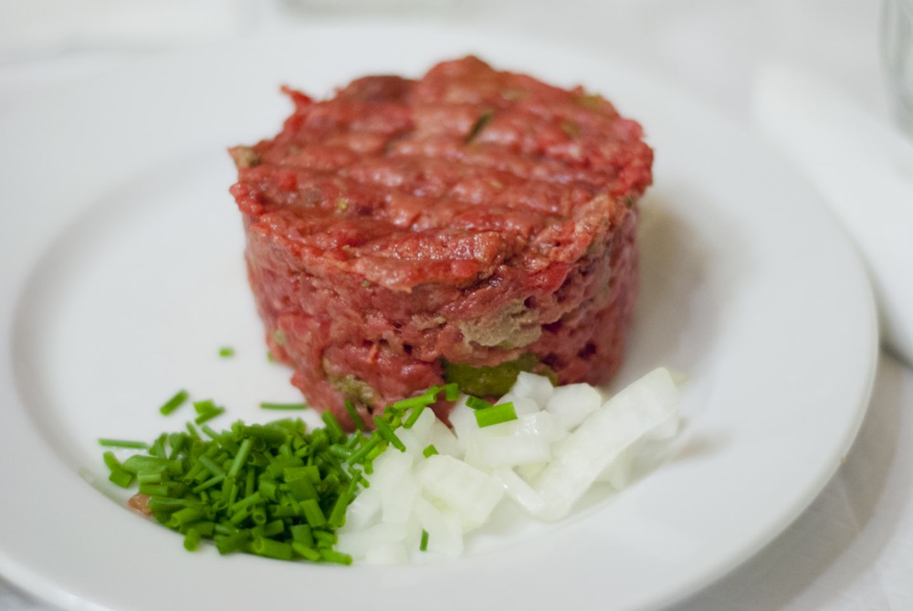 Steak tartare at Chartier