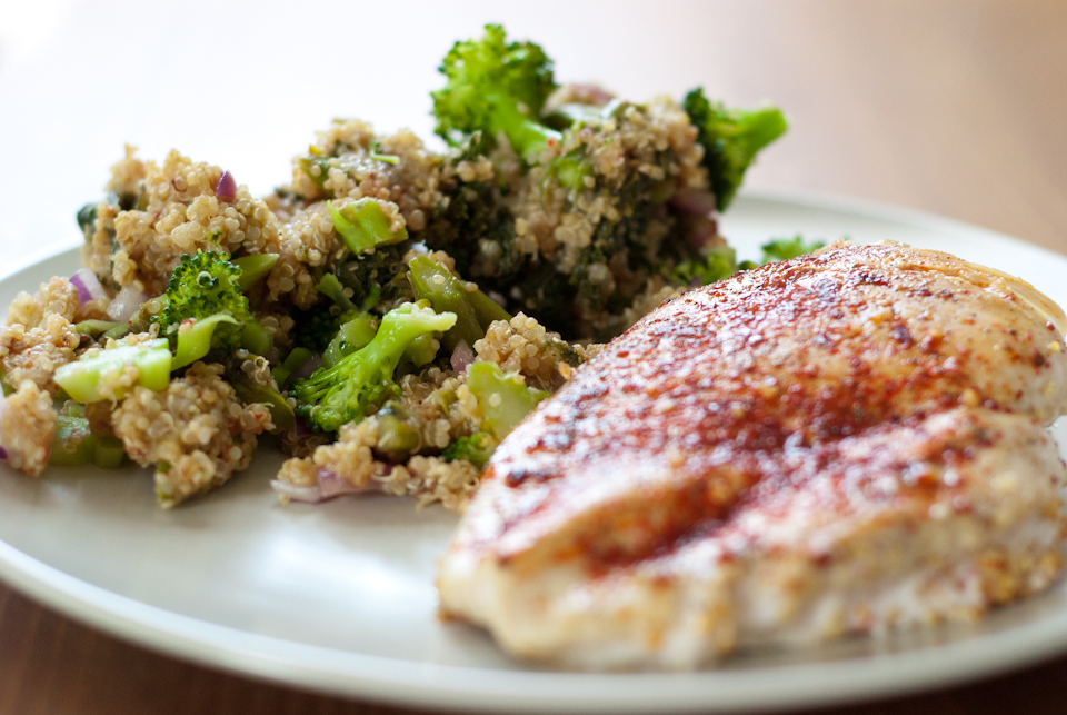 Broccoli quinoa with chicken breast