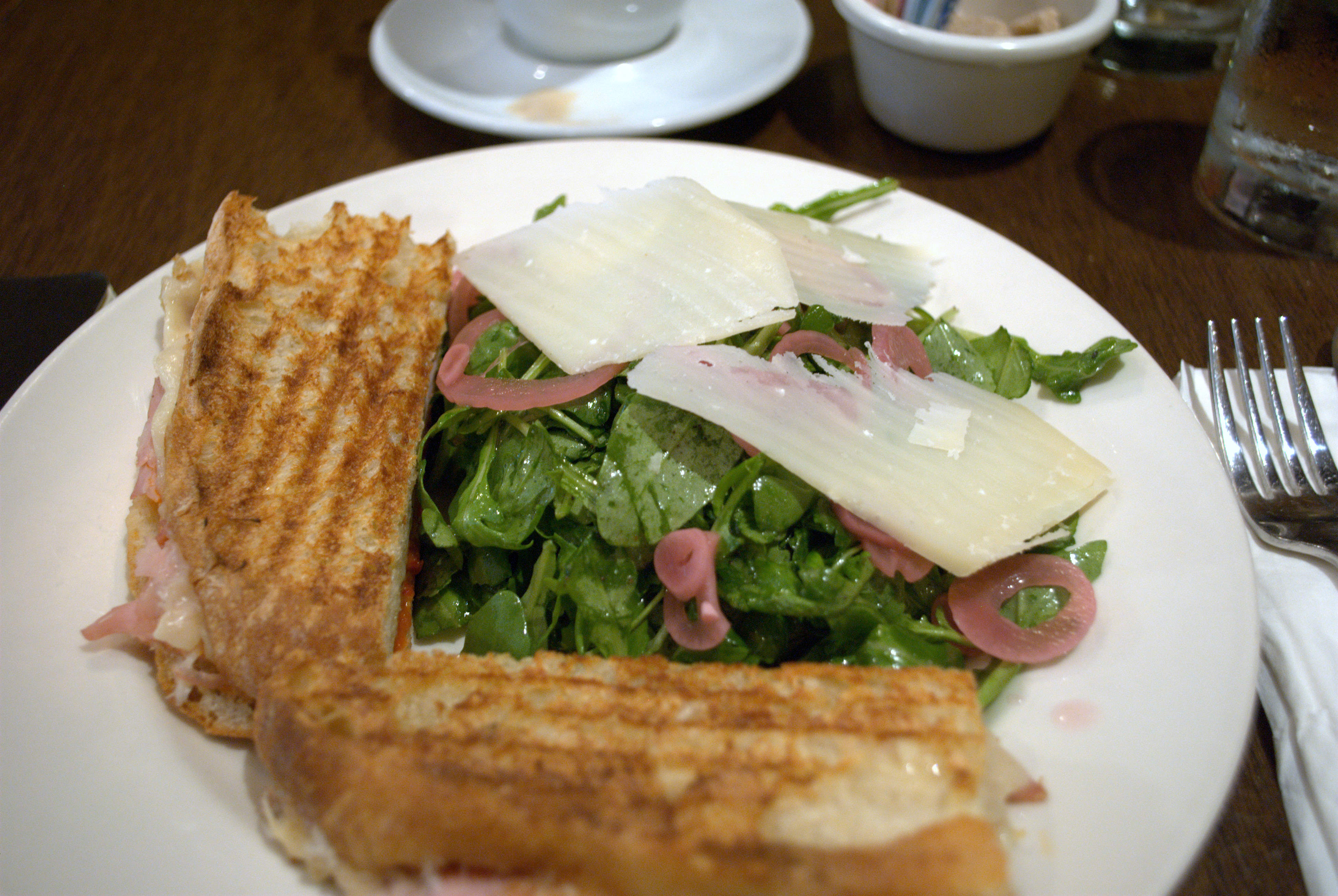 Half panini half salad