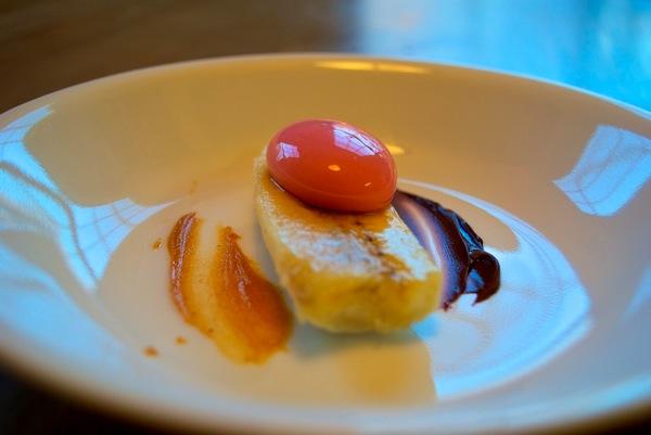 Strawberry yogurt ravioli with banana peanut and chocolate.jpg