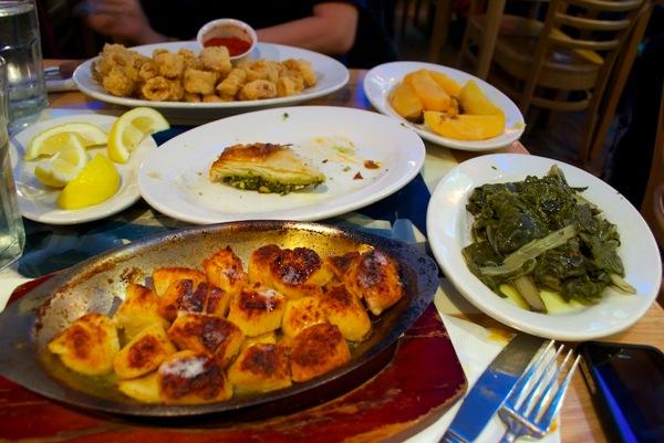 Food at Taverna Kyclades
