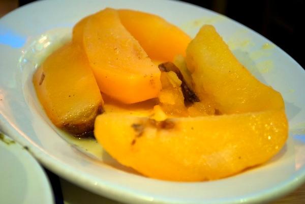 Lemon potatoes at Taverna Kyclades